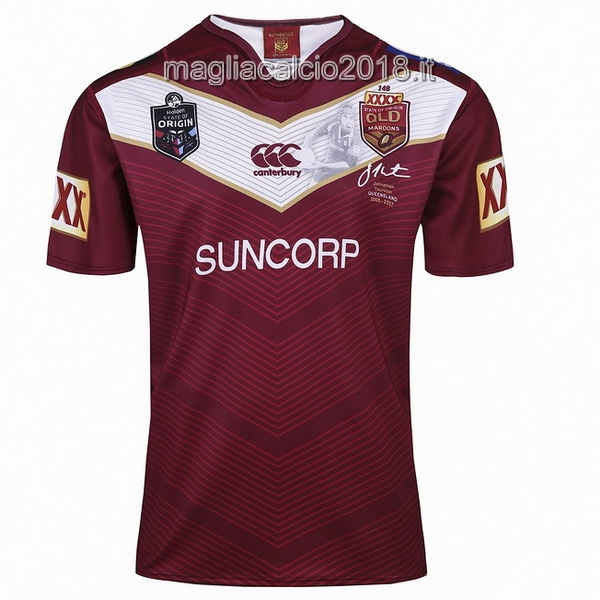 canterbury Thurston Rugby Maglia QLD Maroons 2017 Rosso