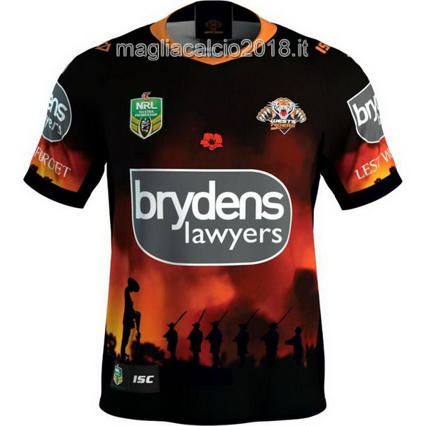 ISC Anzac Round Rugby Maglia Wests Tigers 2018 Nero