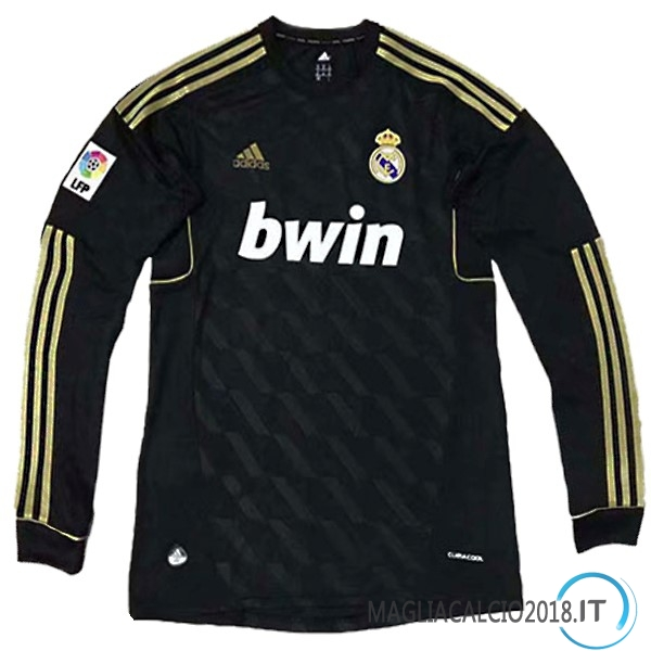 Away Maglia Manica lunga Real Madrid Retro 2011 2012