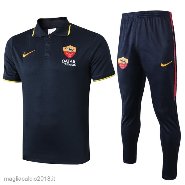 Conjunto Completo Polo As Roma 2019/20 Nero Giallo