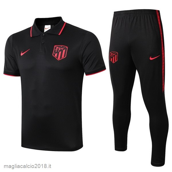 Set Completo Polo Atlético Madrid 2019 2020 Nero