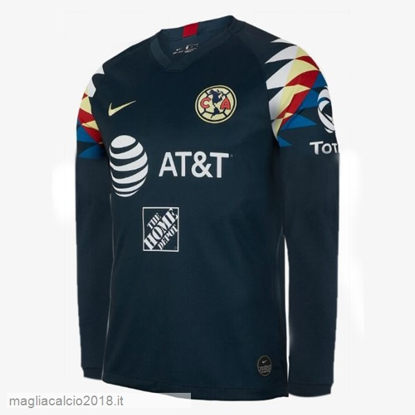 Away Manica lunga Club América 2019 2020 Blu Navy
