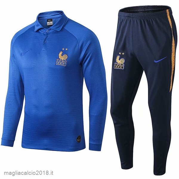 Set Completo Polo Francia 100th Blu