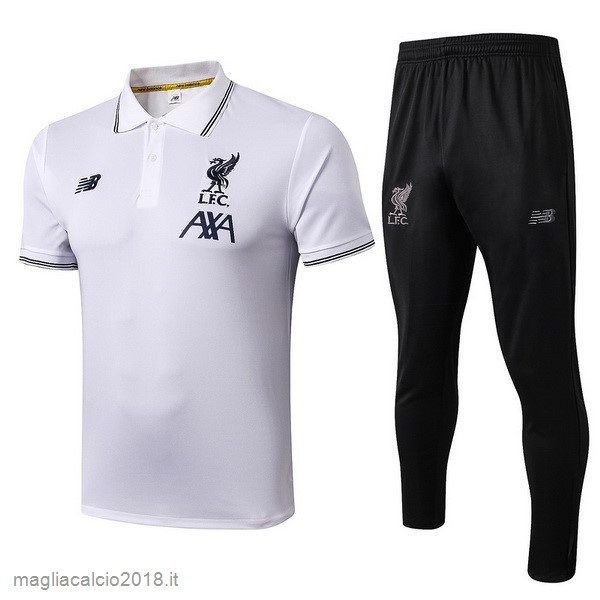 Set Completo Polo Liverpool 2019 2020 Bianco Nero