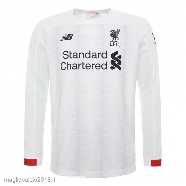 Away Manica lunga Liverpool 2019 2020 Bianco