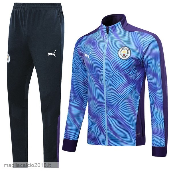 Tuta Calcio Manchester City 2019 2020 Purpureo Blu