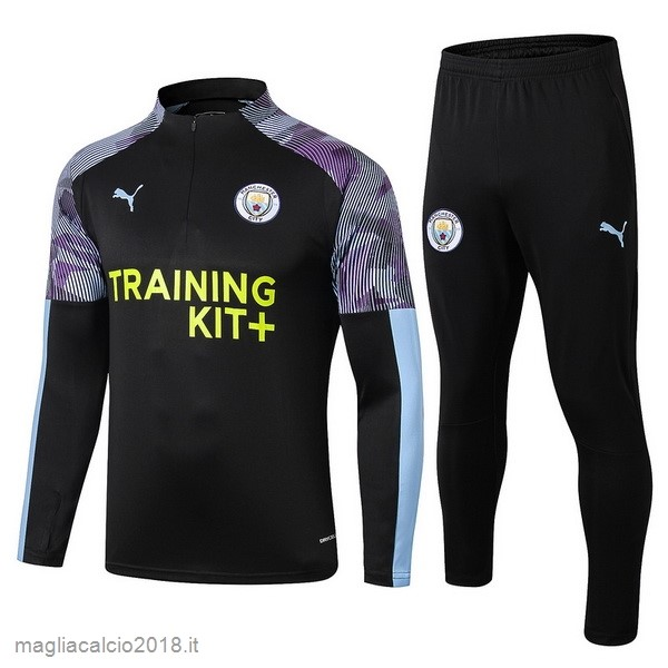 Tuta Calcio Manchester City 2019 2020 Purpureo Nero