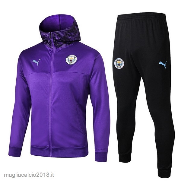 Tuta Calcio Manchester City 2019 2020 Purpureo Nero1