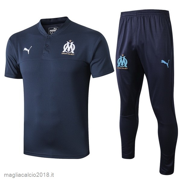 Set Completo Polo Marseille 2019 2020 Blu