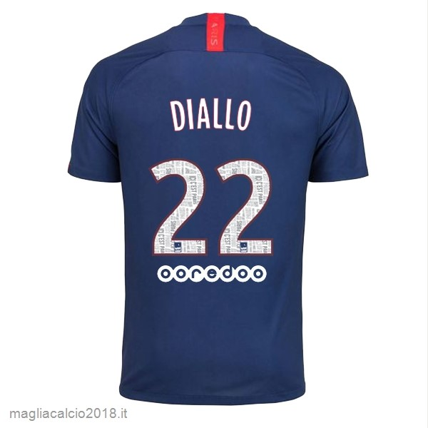 NO.22 Diallo Home Vendere Maglia Paris Saint Germain 2019 2020 Blu