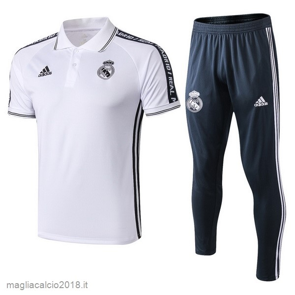 Set Completo Polo Real Madrid 2019 2020 Bianco