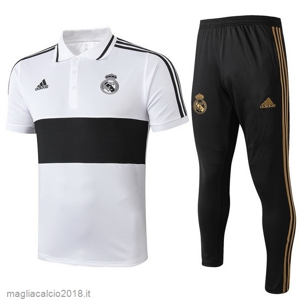 Set Completo Polo Real Madrid 2019 2020 Bianco Nero