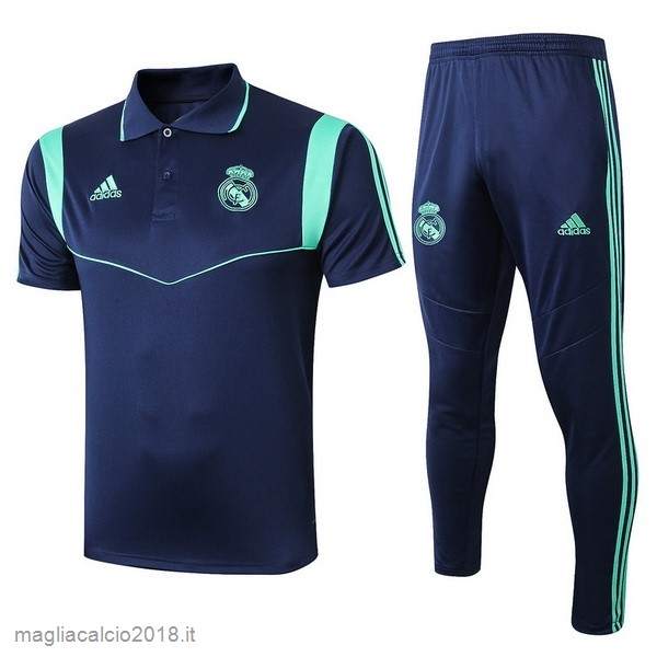 Set Completo Polo Real Madrid 2019 2020 Blu Navy