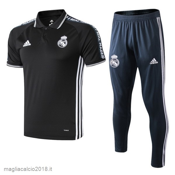 Set Completo Polo Real Madrid 2019 2020 Nero