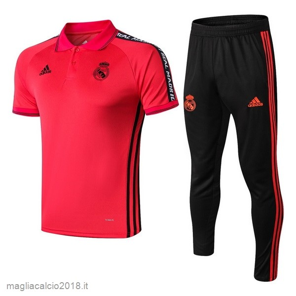 Set Completo Polo Real Madrid 2019 2020 Rosso Nero
