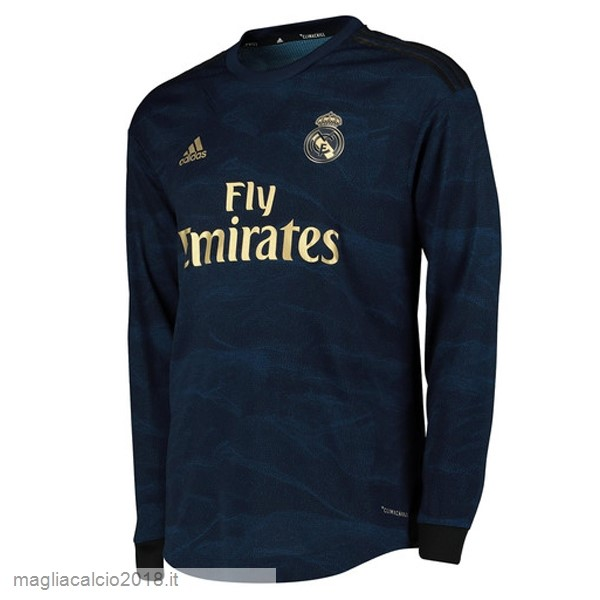 Away Manica lunga Real Madrid 2019 2020 Blu