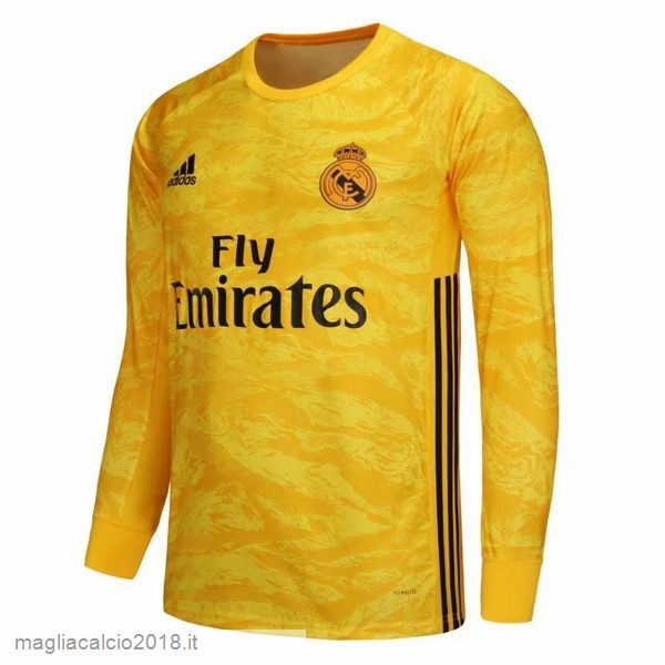 Home Manica lunga Portiere Real Madrid 2019 2020 Giallo