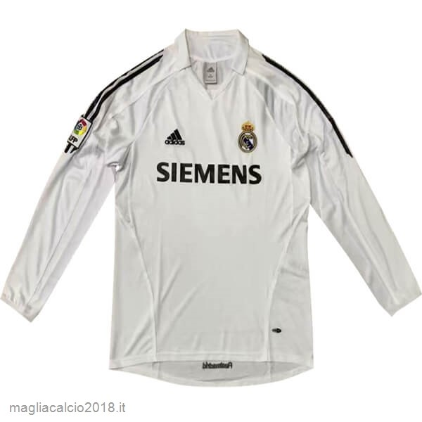 Home Manica lunga Real Madrid Retro 05 06 Bianco
