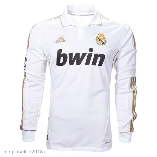 Home Manica lunga Real Madrid Retro 11 12 Bianco