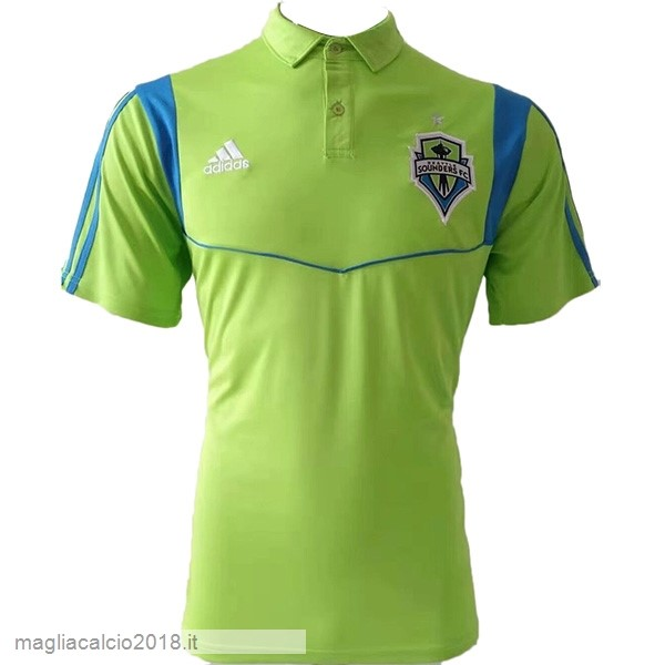 Polo Seattle Sounders 2019 2020 Verde Fluoroescente