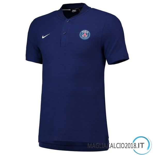 Polo Maglia Paris Saint Germain 2018 2019 Blu